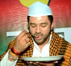 Patna: Chirag Paswan at iftar party