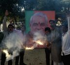 Lucknow: BJP workers celebrate Bharat Ratna to Vajpayee