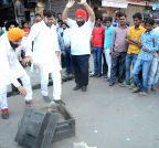 Lucknow: People break TV sets after Australia defeated India