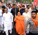 Lucknow: Uma Bharti participates in `Run for Unity`
