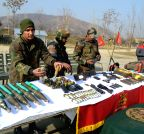 Baramulla: Army recovers arms and ammunition in Hajibal