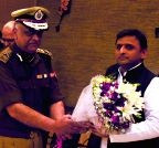 Lucknow: UP CM during a Police Week programme
