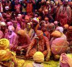 Mathura: Nandgaon Temple - holi