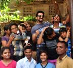 Mumbai: Ayushmann Khurrana celebrates `No TV Day` with Kids