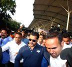 Mumbai: Salman Khan arrives at Mumbai Airport