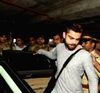 Mumbai: Virat Kohli, Anushka Sharma arrive from ICC WC15