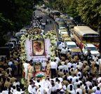 Mumbai: Funeral of Murli Deora
