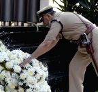 Mumbai: Policemen pay tribute to the victims of  26/11 attacks - Vinod Tawde, Prakash Mehta, Rakesh Maria