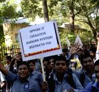 Mumbai: SFI demonstration to press for their demands