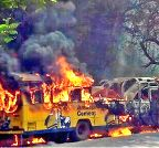Nagpur: Bus catches fire in Nagpur