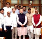New Delhi: Jain Diksharthis call on PM Modi