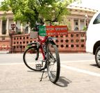 New Delhi: Parked bicycle of BJP MP at Parliament House