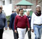 New Delhi: Arvind Kejriwal at Election Commission