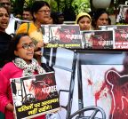 New Delhi: Demonstration against violence against Dalits in Rajasthan