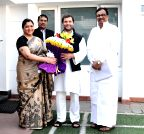 New Delhi: Actress Khushboo calls on Rahul Gandhi