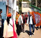 New Delhi: BJP candidate campaign