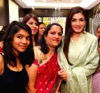 New Delhi: Raveena Tandon at the inauguration of a showroom
