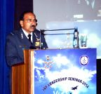 New Delhi: Arup Raha during the Indian Air Force Leadership Seminar - 2014