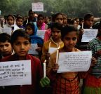 New Delhi: Children condemn attack on Peshawar school