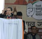 New Delhi: Sonia Gandhi addresses Congress Rally