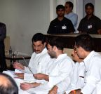 New Delhi: Rahul Gandhi meets ex-servicemen (Batch-2)