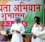 New Delhi: Manmohan Singh at the launch of party's membership drive (Batch -2)