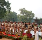 New Delhi: Delhi Police pays tribute to Sardar Patel