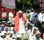 New Delhi: New Delhi: Protest against the Land Acquisition Bill