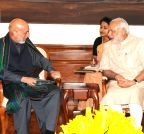 New Delhi: Hamid Karzai calls on the PM Modi