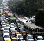 New Delhi: Traffic jam near ITO