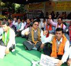 New Delhi: Bodo Sahitya Sabha demonstration