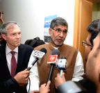 New Delhi: Kailash Satyarthi during a programme at German Embassy