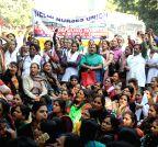 New Delhi: Nurses' demonstration against health policies