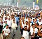 New Delhi:  Rashtriya Ekta Diwas - People run for unity