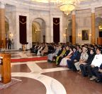 New Delhi: President Mukherjee meets Indian Railways Probationers