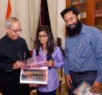 New Delhi: President Mukherjee meets Mariyam Asif Siddiqui