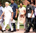 New Delhi: PM Modi at Parliament House