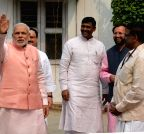New Delhi:  PM Modi during BJP's `Diwali Milan​`​