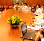 New Delhi: PM Modi interacts with the officers of the Prime Minister`s Office