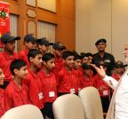 New Delhi: Modi meets kids from Jammu and Kashmir