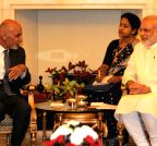 New Delhi:  Modi-Ghani meeting at Hyderabad House