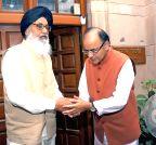 New Delhi: Punjab CM with Arun Jaitley