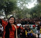 New Delhi: Bharti Singh performs during a comedy programme at Tihar Jail