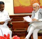 New Delhi: O. Panneerselvam calls on  Modi