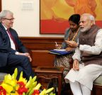 New Delhi: Former Australian PM calls on Modi