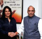 New Delhi: Tulsi Gabbard calls on Rajnath Singh