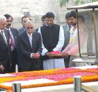New Delhi: Bangladesh President visits  Rajghat