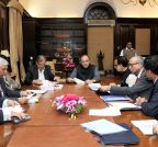 New Delhi: Arun Jaitley meets PMJDY officers