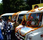 New Delhi: Piyush Goyal flags-off NTPC`s Mobile Science Lab