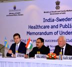 New Delhi: Celebratation of five years of India-Sweden MoU on Healthcare and Public Health